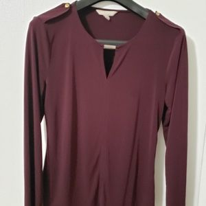 Banana Republic Plum long sleeve top